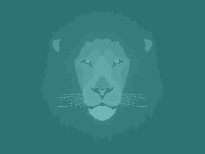 Lion lion animal illustration cats teal illustrator whiskers safari