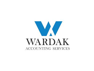 Wardak Accounting Logo a letter logo w letter branding vector logo logo design