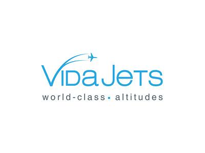 VidaJets Branding aviation logo jets jet logo design illustration vector logo branding logo design