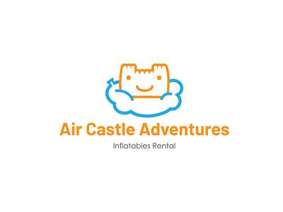 Air Castle Adventures inflatable logo illustration logo branding logo design