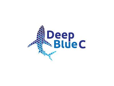 DeepBlueC hexagons hexagon logo fish logo logo logo design