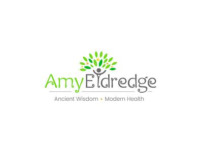 Amy Logo health logo green logo people logo tree logo vector logo logo design
