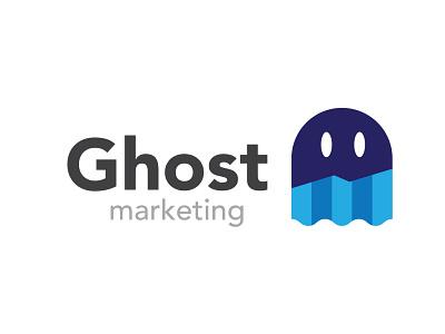 Ghost Marketing marketing illustration vector logo logo design ghost marketing logo