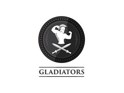 Gladiators swords gym logo gladiator design branding illustration vector logo logo design