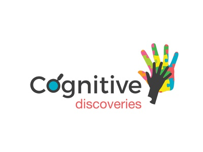 Cognitive Discoveries hands puzzle logo illustration vector logo design abstract logo