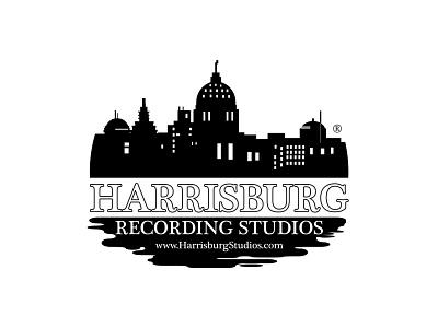 Harrisburg design branding illustration ripple effect silhouette city vector vector logo logo design