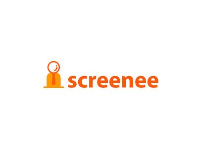 Screenee illustration vector search recruitment logo logo design