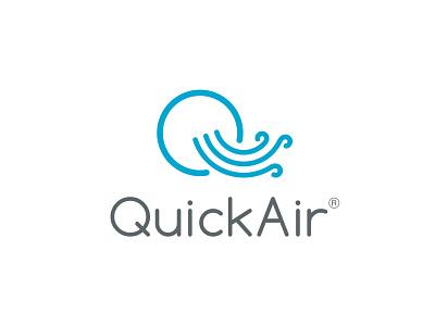 quickair q letter logo illustration logo vector logo design air logo