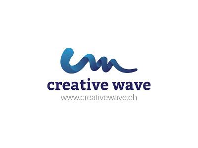 Creative Wave wave logo waveform waves c wave a letter logo abstract logo typography abstract design branding illustration vector logo logo design
