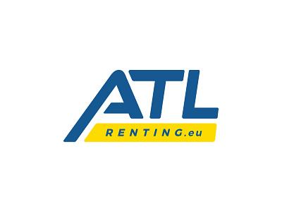 ATL Renting renting logo rent renting typography design branding illustration vector logo logo design