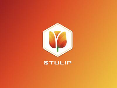 Tulip logo crypto cryptocurrency crypto logo design branding illustration vector logo logo design