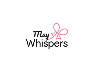 May Whispers logo abstract logo a letter logo abstract design branding illustration vector logo logo design