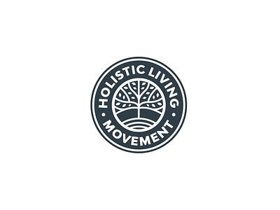 HLM yoga logo tree logo abstract branding illustration vector logo logo design design