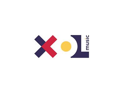 XOL music icon a letter logo typography abstract design branding vector illustration logo logo design music logo