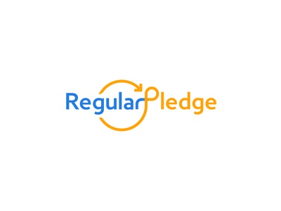 Regular Pledge icon a letter logo typography abstract design branding vector illustration logo logo design