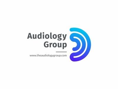 Audiology Group logo icon vector branding typography logo design illustration audiology logo design logo