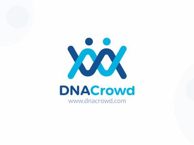 DNA Crowd medical logo dna icon logo design typography branding audiology logo design vector illustration dna logo logo