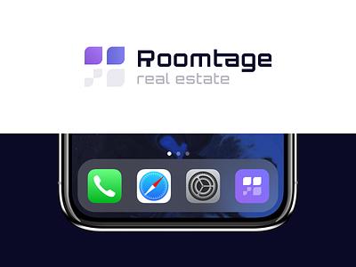 Roomtage - Branding minimal product vector typography illustration icon rent logo design logotype identity toglas branding real estate logo pattern texture