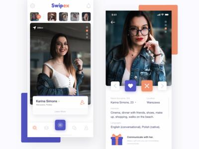 Swipex - Application for Acquaintances