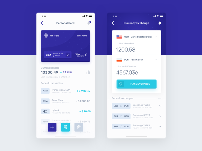 Banking Application - Personal Card project ux ui design dashboard interface product money sketch graphics finance ecommerce card bank app
