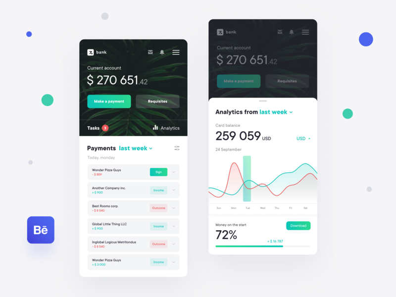 Banking Application - Case Study ux ui ecommerce statistics project money bank interface product banking design data dashboard balance app