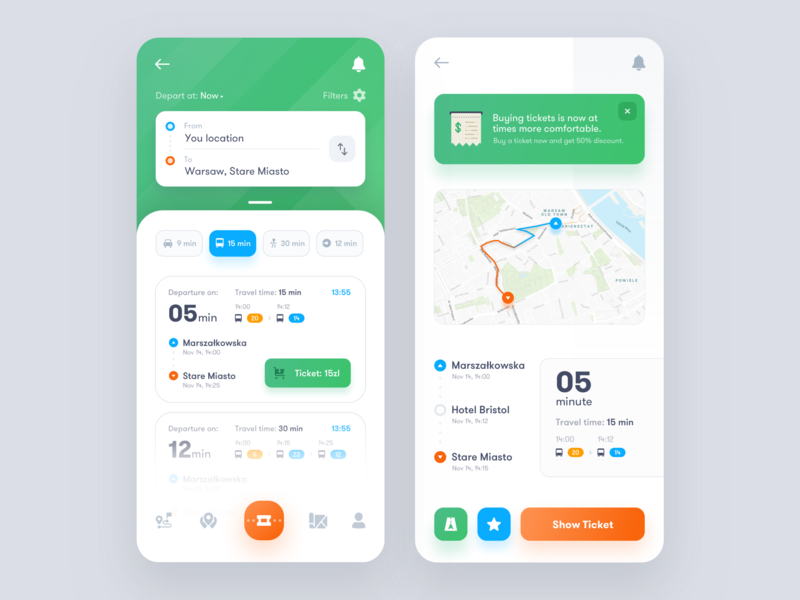 Public Transport Application ux ui transport tickets map bus app navigation taxi design interface product dashboard public transport