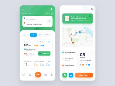 Public Transport Application ux ui transport tickets map bus app navigation taxi design interface product dashboard public transport