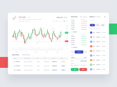 Trading Terminal - Dashboard ux ui terminal tranding crypto wallet vector icons funds ecommerce project money bank design product interface dashboard cryptocurrency charts bitcoin