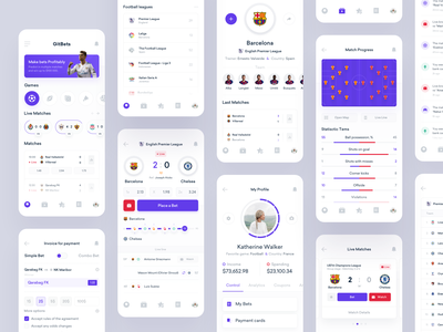 GitBets - UI Map ux ui ticket sport statistics design product interface football dashboard bookmakers app bets bet