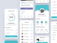 Diagnos Case - UI Map ux ui mobile patient toglas interface project statistics design dashboard product medical app