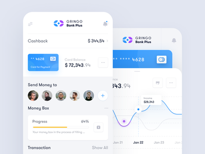 Gringo Bank - App ux ui application finance toglas project money interface product design dashboard bank app bank admin