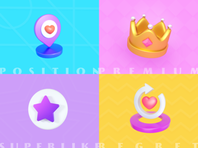 Some 3D icon for social app