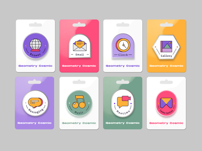 Magician universe geometry animation ux design icon ui
