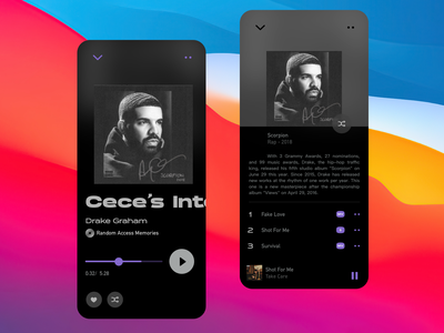 Magician universe geometry-music player app information ux design icon ui