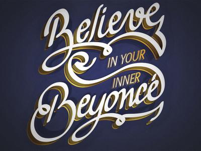 Beyoncé positive quote lettering beyoncé
