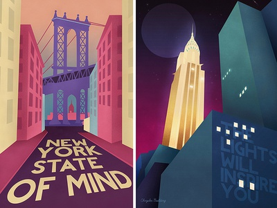 Posters NYC new york nyc vector poster