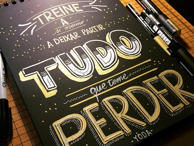 Yoda Quote lettering