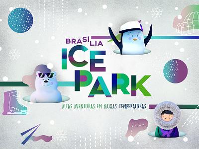 Brasilia Ice Park id visual identity