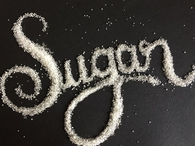 Writting with sugar lettering
