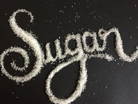 Writting with sugar