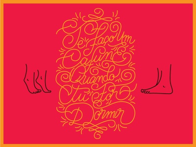 Lettering Forró lettering