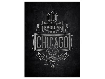 Lebowski Fest Chicago 2012 Poster lebowski the dude bill green johnson
