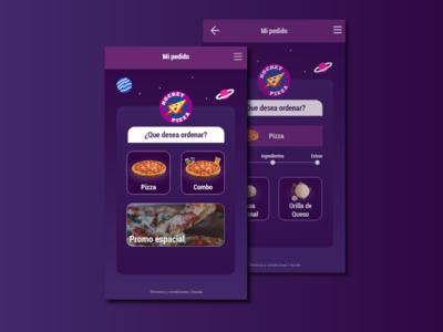 Rocket Pizza UI Design App