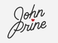 John Prine custom lettering customtype script john prine prine