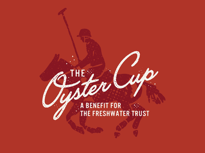 The Oyster Cup illustration poster branding logo texture trust freshwater benefit oystercup horse polo