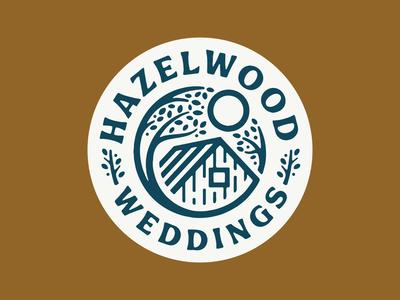 Hazelwood Weddings Badge hazelwood married marriage sun cabin leaves tree wedding venue weddings wedding