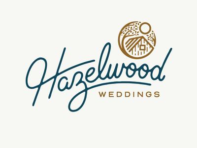 Hazelwood Weddings hazelwood custom lettering logo marriage married wedding venue wedding card wedding invitation wedding