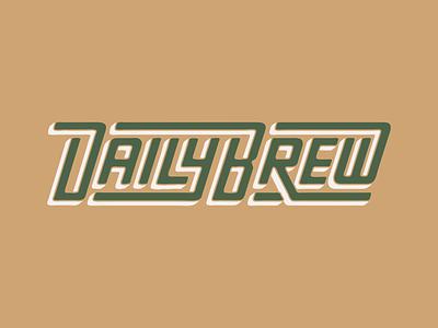 GR Daily Brew Wordmark branding running design logo texture run custom type customtype wordmark lettering illustration