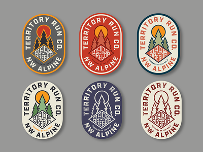 NW Alpine / Territory Badge Options made in usa made in oregon sticker badge outdoors tree oregon northwest