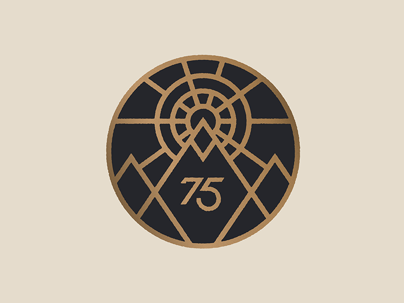 75 monoline hun bun fun run sun mountain badge